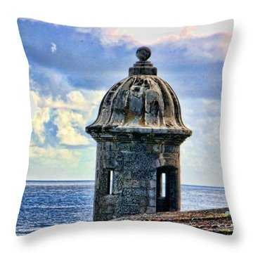 Guard Tower At El Morro Throw Pillow