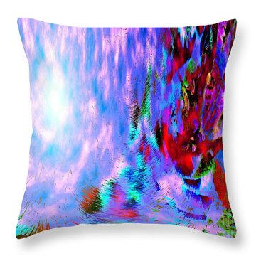 Throw Pillow featuring the digital art Guardian Angel  by Annie Zeno