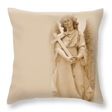 Guardian Angel Throw Pillow by Nadalyn Larsen