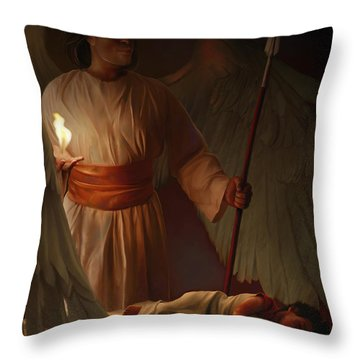 Guardian Angel Throw Pillow by Tamer and Cindy Elsharouni