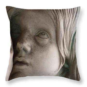 Guardian Angel With Praying Hands Throw Pillow