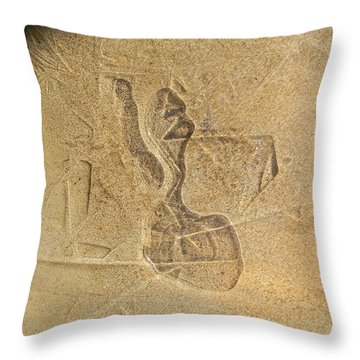 Guardian In The Stone Throw Pillow