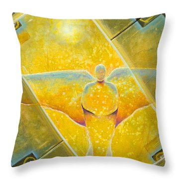 Guardian Of Light Throw Pillow