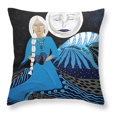 Guardian Of The Dream Time Throw Pillow