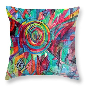 Guardian Of The Faith Throw Pillow by David Baruch Wolk