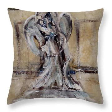 Throw Pillow featuring the painting Guardian Of The School by Sandra Strohschein
