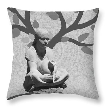 Throw Pillow featuring the photograph Guardian Of The Tree Of Life by I'ina Van Lawick