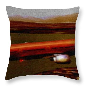 Guardian Over Seattle Throw Pillow by Marcello Cicchini