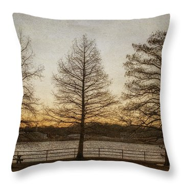 Guardian Trees Throw Pillow