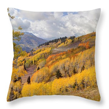Guardsman Pass Aspen - Big Cottonwood Canyon - Utah Throw Pillow