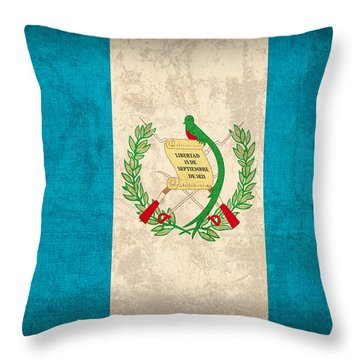 Guatemala Flag Vintage Distressed Finish Throw Pillow by Design Turnpike