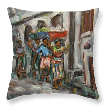 Guatemala Impression V - Left Hand 1 Throw Pillow by Xueling Zou