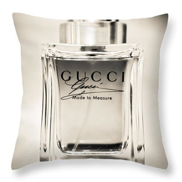 Throw Pillow featuring the photograph Gucci Made To Measure  by Aaron Berg