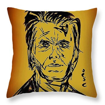 Clint Eastwood Sketch Throw Pillow