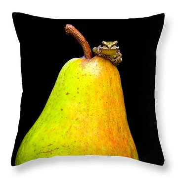Guest A-pear-ance Throw Pillow by Jean Noren