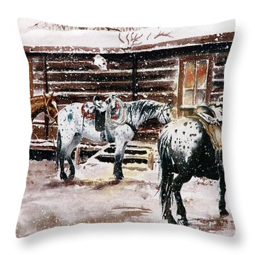 Guests For Dinner Throw Pillow