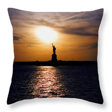 Guiding Light Throw Pillow by Joann Vitali