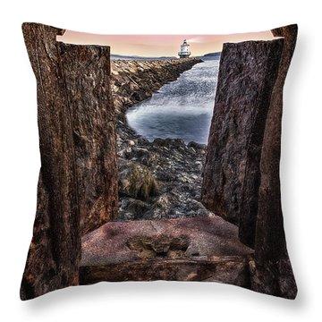 Guiding Light Throw Pillow by Susan Candelario