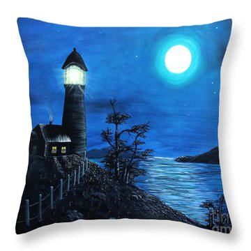 Guiding Lights Throw Pillow by Barbara Griffin