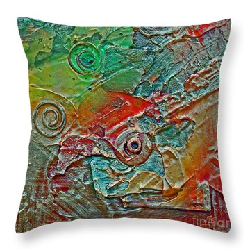 Guilded Bronze I Throw Pillow
