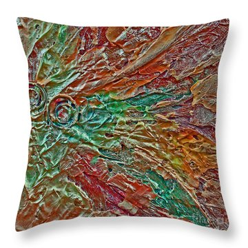 Guilded Bronze II Throw Pillow