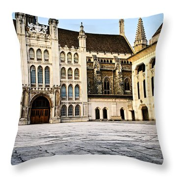 Guildhall Building And Art Gallery Throw Pillow by Elena Elisseeva