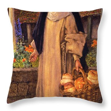 Guinevere Throw Pillow by Eleanor Fortescue Brickdale