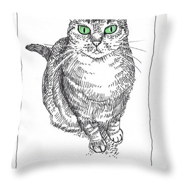 Guinness The Cat Throw Pillow