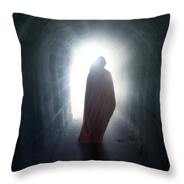 Guise In Tunnel Throw Pillow