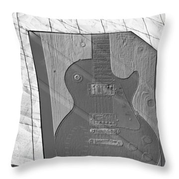 Guitar And Lines Throw Pillow