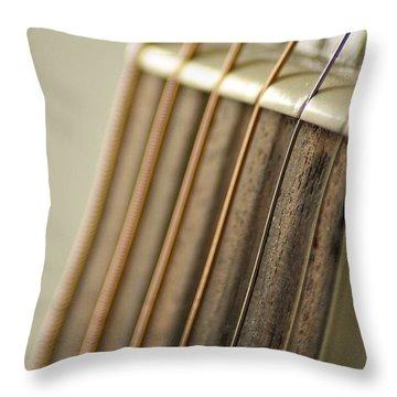 Guitar Throw Pillow by Daniel Precht