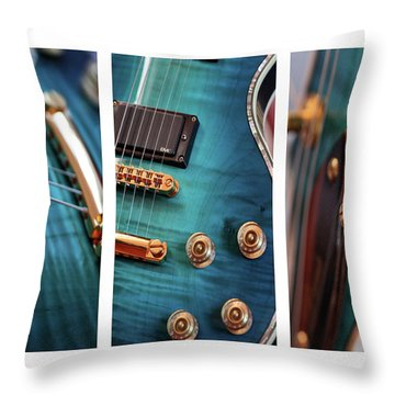 Throw Pillow featuring the photograph Guitar Life by Joy Watson