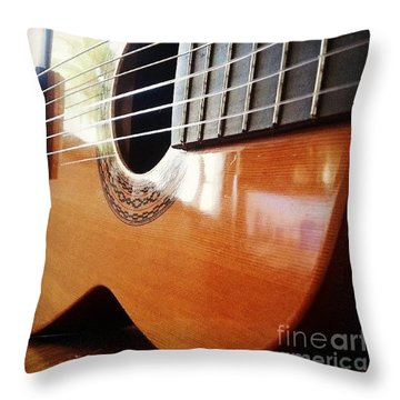 #guitar #music #musicalinstrument Throw Pillow