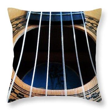 #guitar #music #musician Throw Pillow