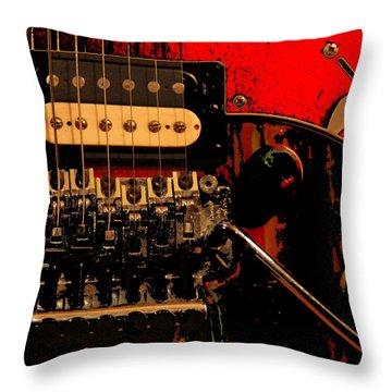 Guitar Pickup Throw Pillow by John Stuart Webbstock