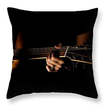 Guitar Player Throw Pillow
