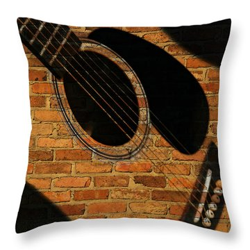 Guitar Shadow Throw Pillow