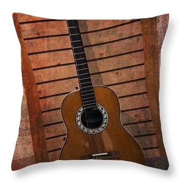 Guitar Solo Throw Pillow
