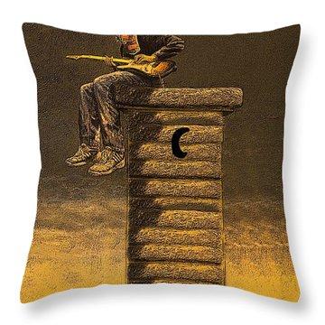 Guitar Town Throw Pillow