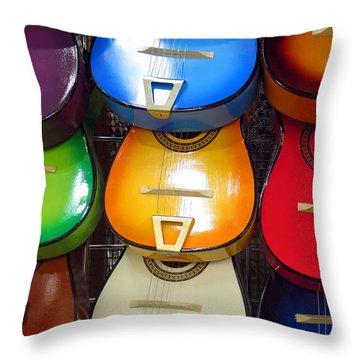 Guitaras San Antonio  Throw Pillow