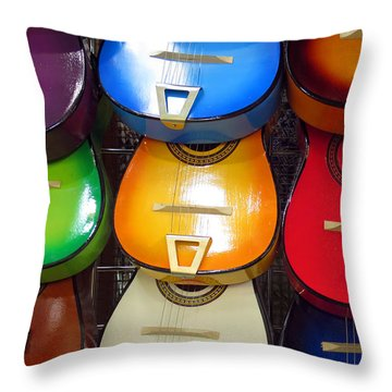Guitaras San Antonio  Throw Pillow