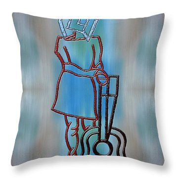 Guitarist Throw Pillow by Patrick J Murphy