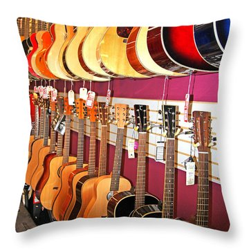 Guitars For Sale Throw Pillow