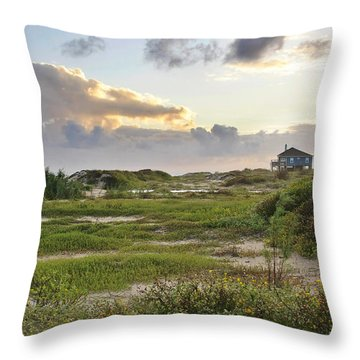 Gulf Coast Galveston Tx Throw Pillow by Christine Till