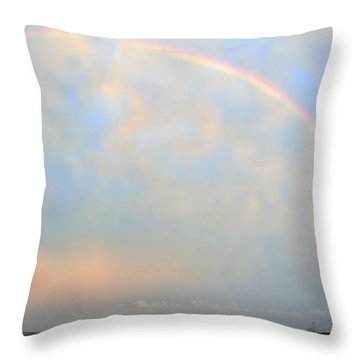 Throw Pillow featuring the photograph Gulf Coast Rainbow by Charlotte Schafer