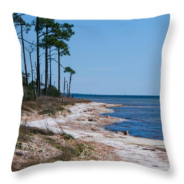 Gulf Island National Seashore 2 Throw Pillow