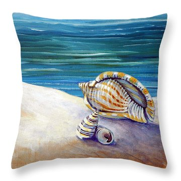 Gulf Shores And Shells II Throw Pillow