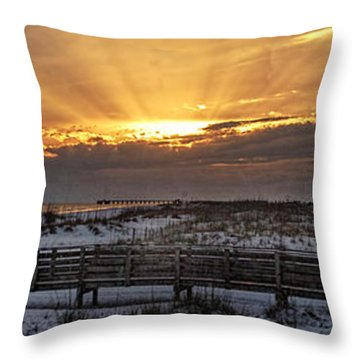 Gulf Shores From Pavilion Throw Pillow