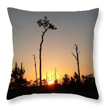 Gulf Shores Sunset Throw Pillow
