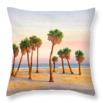 Gulf Sunrise Throw Pillow